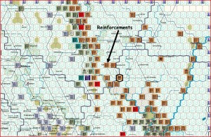Soviet initial phase, north sector (click image to enlarge)